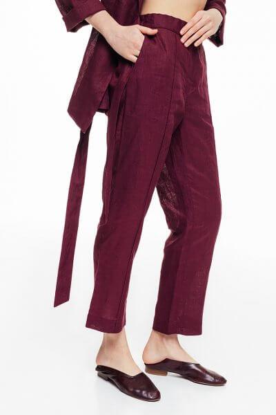 Льняные брюки сo стрелками BLCGR_BLCN687, фото 1 - в интеренет магазине KAPSULA