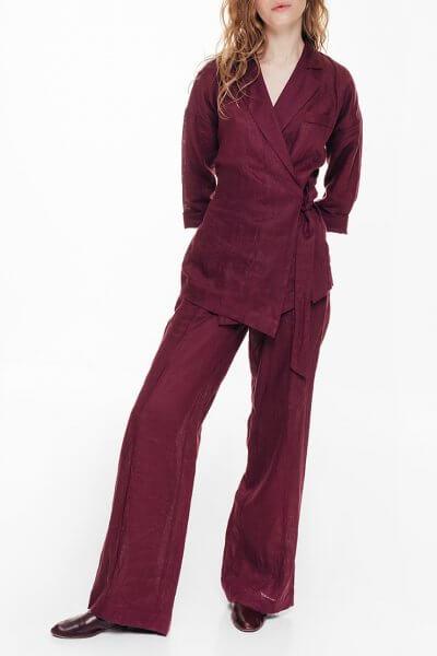 Льняные брюки-клеш BLCGR_BLCN688, фото 1 - в интеренет магазине KAPSULA