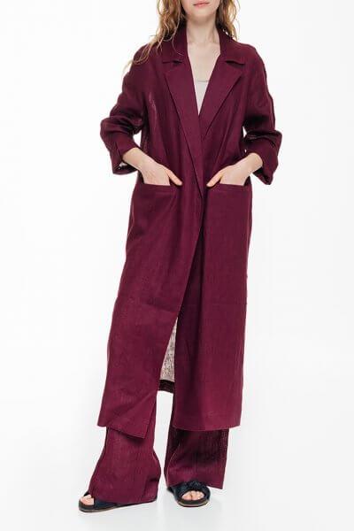 Льняной кардиган с карманами BLCGR_BLCN689, фото 1 - в интеренет магазине KAPSULA