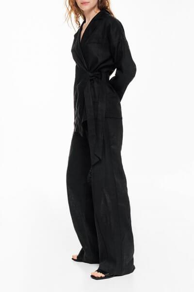 Льняные брюки-клеш BLCGR_BLCN690, фото 1 - в интеренет магазине KAPSULA
