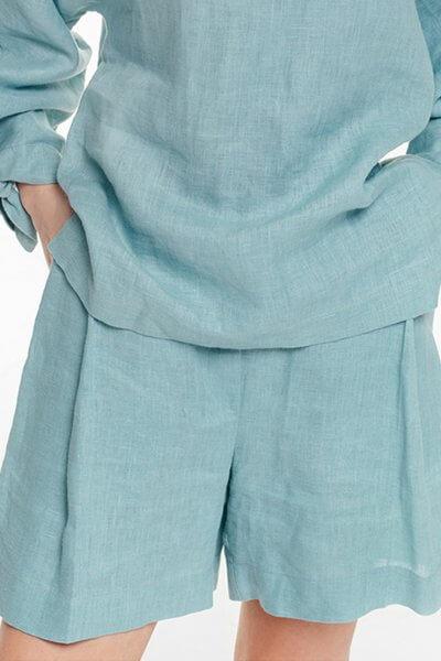 Льняные шорты со складками BLCGR_BLCN694, фото 1 - в интеренет магазине KAPSULA