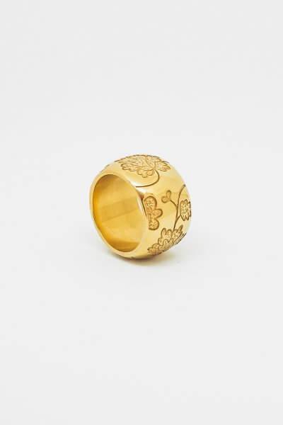 Кольцо Bloom large c позолотой DKCH_D060220, фото 2 - в интеренет магазине KAPSULA