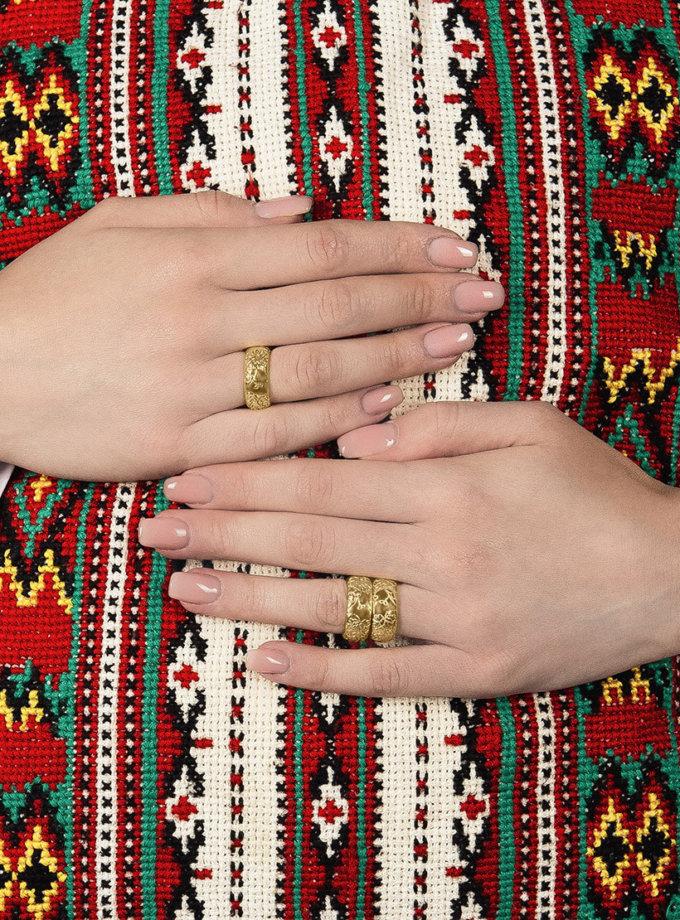 Кольцо Bloom large c позолотой DKCH_D060220, фото 1 - в интеренет магазине KAPSULA