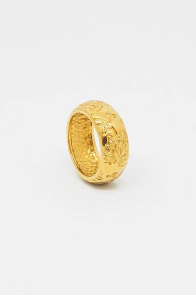Кольцо Bloom small c позолотой DKCH_D070220, фото 1 - в интеренет магазине KAPSULA