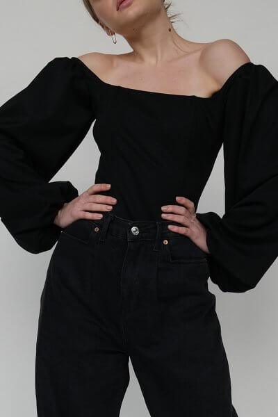 Корсет с рукавами-буфами MSY_black_corset, фото 1 - в интеренет магазине KAPSULA