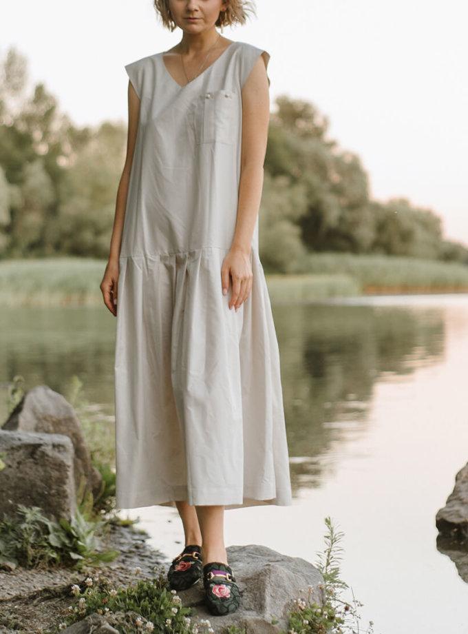 Хлопковое платье с карманом MNTK_MTDRS203, фото 1 - в интернет магазине KAPSULA