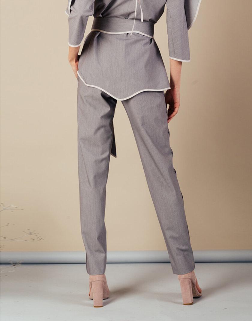 Костюм с воланом на топе MMT_092_091_suit_gray_gray, фото 1 - в интернет магазине KAPSULA