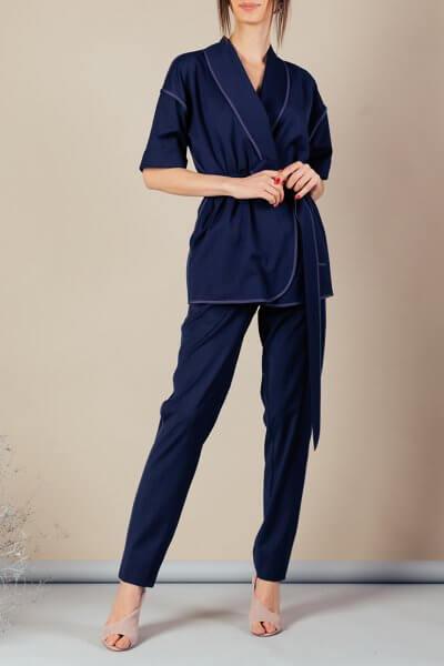 Костюм с кимоно из тонкой шерсти MMT_097_091а_suit_classik_blue, фото 1 - в интеренет магазине KAPSULA