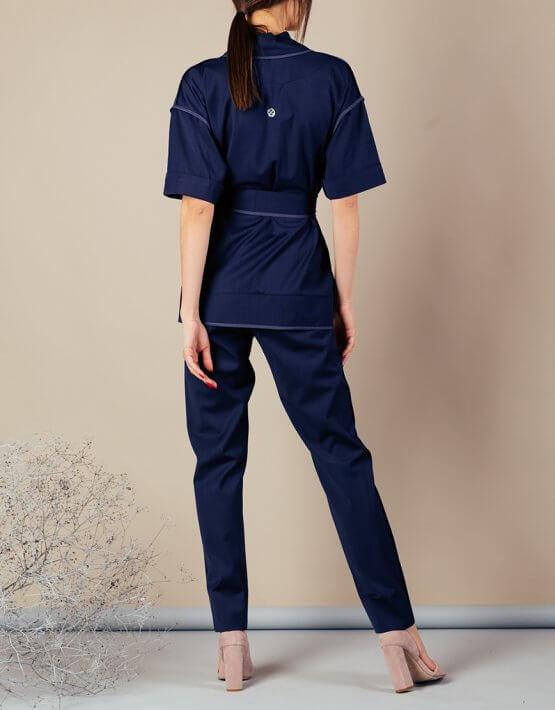 Костюм с кимоно из тонкой шерсти MMT_097_091а_suit_classik_blue, фото 9 - в интеренет магазине KAPSULA