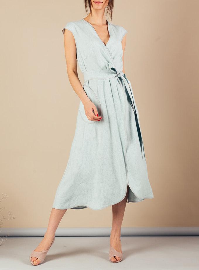 Льняное платье на запах MMT_074_linen dress, фото 1 - в интернет магазине KAPSULA