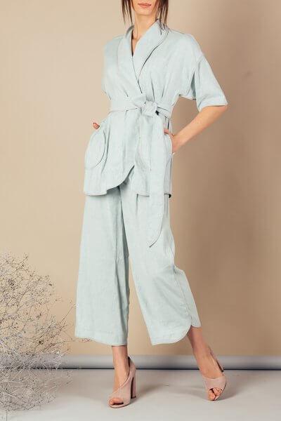 Льняной костюм с кимоно MMT_072_073_linen suit, фото 1 - в интеренет магазине KAPSULA