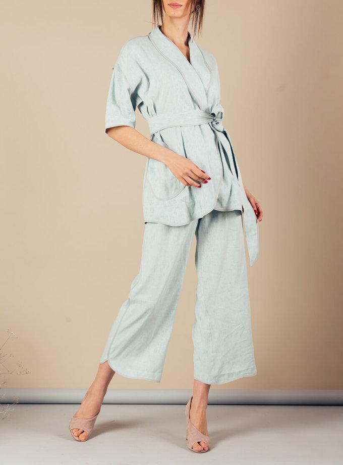 Льняной костюм с кимоно MMT_072_073_linen suit, фото 1 - в интернет магазине KAPSULA