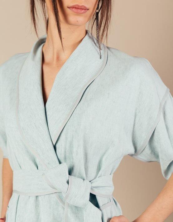 Льняной костюм с кимоно MMT_072_073_linen suit, фото 8 - в интеренет магазине KAPSULA