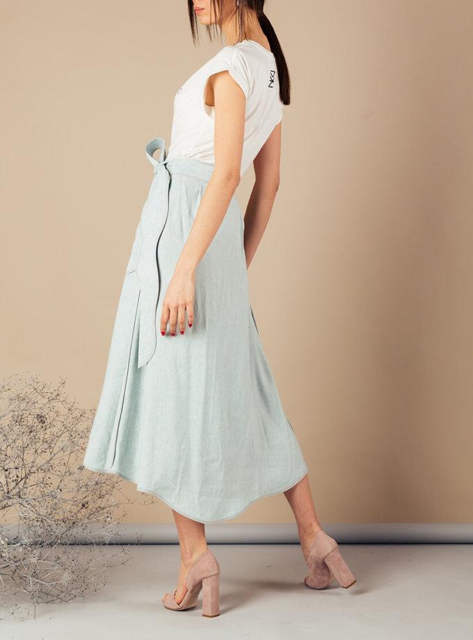 Льняная юбка на запах MMT_079_linen skirt, фото 1 - в интеренет магазине KAPSULA