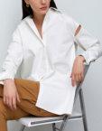 Удлиненная рубашка с накладными карманами IRRO_IR_SS20_SB_019, фото 2 - в интеренет магазине KAPSULA