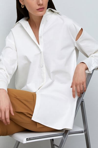 Рубашка oversize с разрезами на плечах IRRO_IR_SS20_SW_018, фото 1 - в интеренет магазине KAPSULA