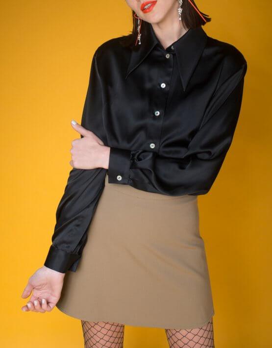 Шелковая блуза oversize IT_it20bl03103, фото 4 - в интеренет магазине KAPSULA