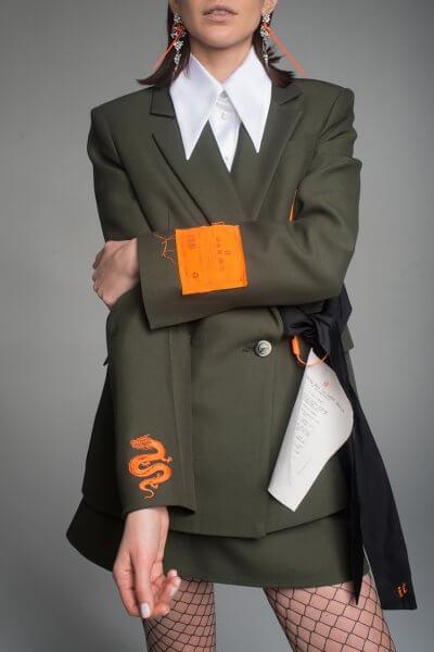 Жакет из шерсти с вышивкой IT_it20hk01101, фото 1 - в интеренет магазине KAPSULA