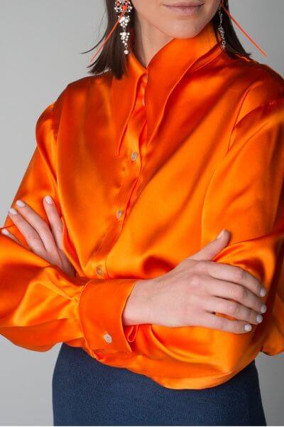 Шелковая блуза oversize IT_it20or03103, фото 1 - в интеренет магазине KAPSULA