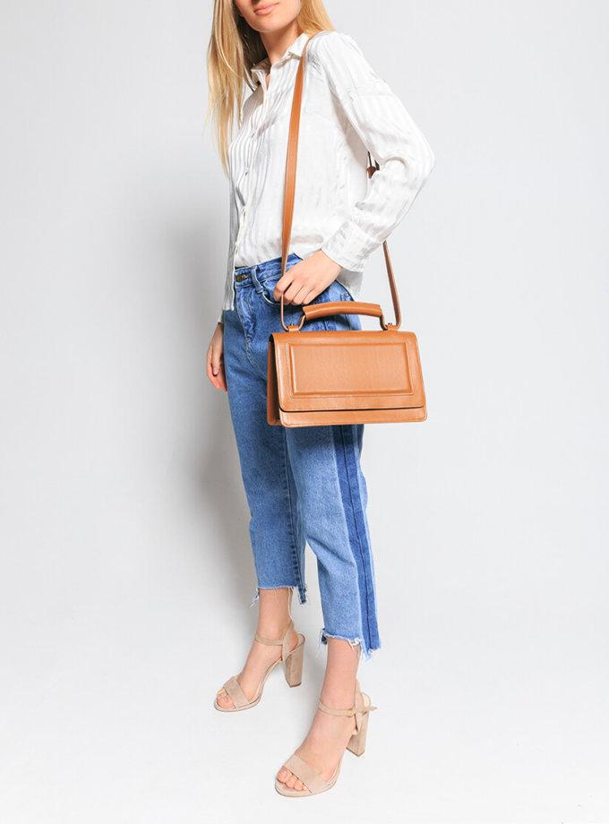 Кожаная сумка BONY KLNA_Bony_caramel, фото 1 - в интеренет магазине KAPSULA