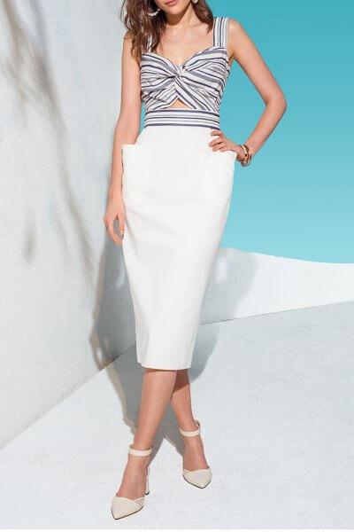 Платье с контрастным лифом KS_AND_KS_SS-22-03, фото 5 - в интеренет магазине KAPSULA
