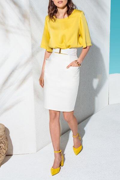 Джинсовая юбка с поясом KS_AND_KS_SS-22-06, фото 1 - в интеренет магазине KAPSULA