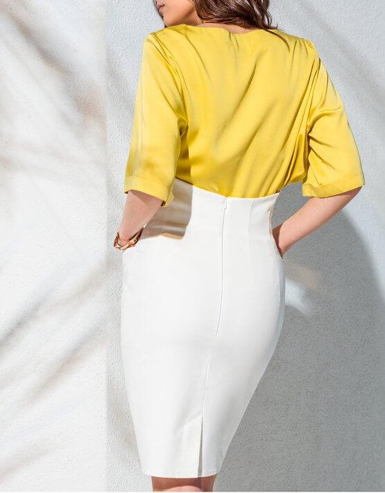 Джинсовая юбка с поясом KS_AND_KS_SS-22-06, фото 3 - в интеренет магазине KAPSULA