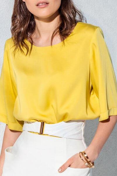 Блуза свободного кроя KS_AND_KS_SS-22-07, фото 1 - в интеренет магазине KAPSULA