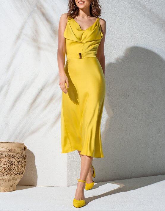 Двухслойное платье с поясом KS_AND_KS_SS-22-08, фото 5 - в интеренет магазине KAPSULA
