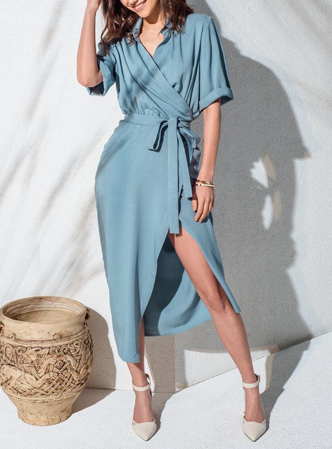 Платье миди на запах KS_AND_KS_SS-22-09, фото 1 - в интернет магазине KAPSULA