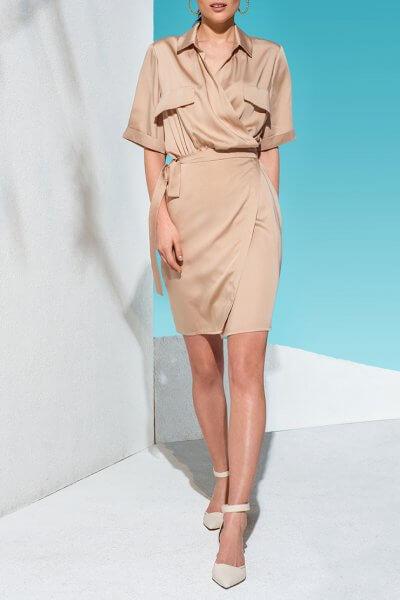 Платье мини на запах KS_AND_KS_SS-22-10, фото 1 - в интеренет магазине KAPSULA