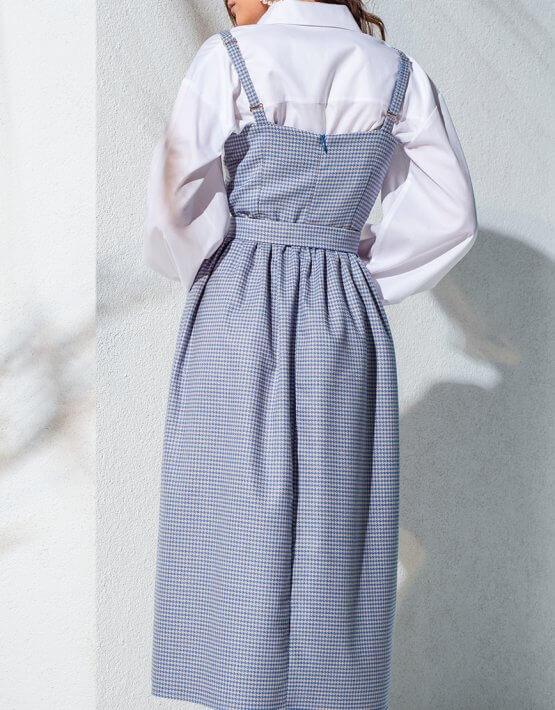 Сарафан с пышной юбкой из хлопка KS_AND_KS_SS-22-13, фото 5 - в интеренет магазине KAPSULA