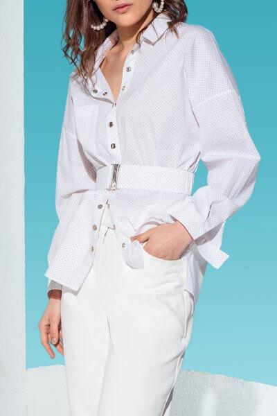 Хлопковая рубашка с бахромой сзади KS_AND_KS_SS-22-14, фото 3 - в интеренет магазине KAPSULA
