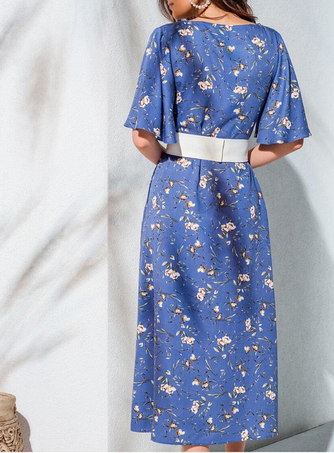 Платье на пуговицах и с поясом KS_AND_KS_SS-22-16, фото 1 - в интеренет магазине KAPSULA