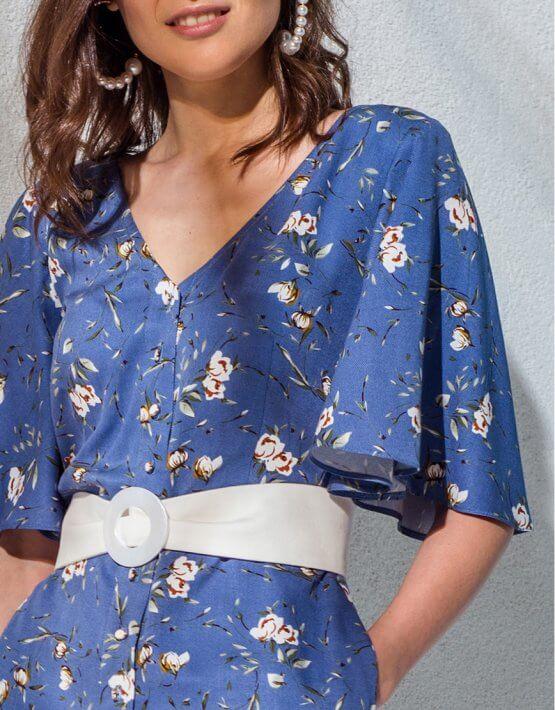 Платье на пуговицах и с поясом KS_AND_KS_SS-22-16, фото 3 - в интеренет магазине KAPSULA