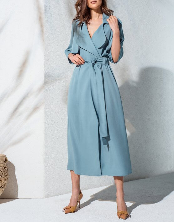 Платье-тренч на запах KS_AND_KS_SS-22-20, фото 4 - в интеренет магазине KAPSULA