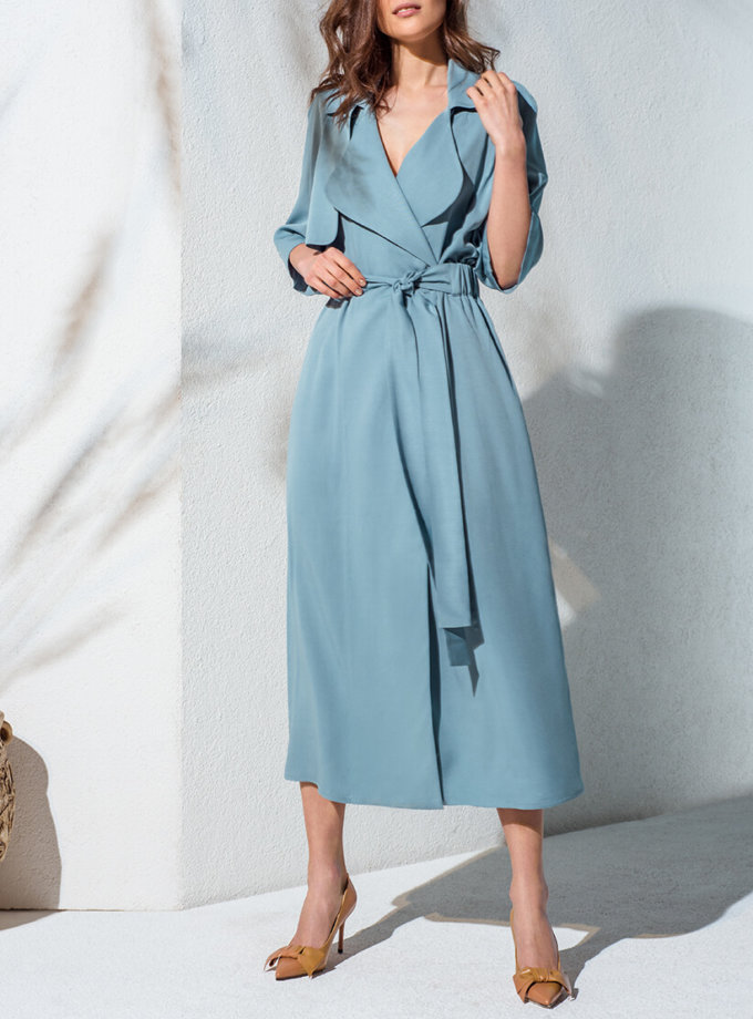 Платье-тренч на запах KS_AND_KS_SS-22-20, фото 1 - в интеренет магазине KAPSULA