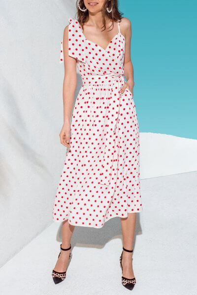 Платье с пышной юбкой и поясом KS_AND_KS_SS-22-21, фото 1 - в интеренет магазине KAPSULA