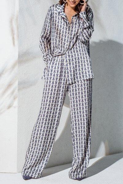 Комплект из брюк и рубашки KS_AND_KS_SS-22-27, фото 1 - в интеренет магазине KAPSULA