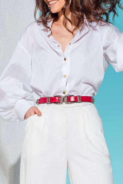 Рубашка с объемными рукавами KS_AND_KS_SS-22-29, фото 1 - в интеренет магазине KAPSULA