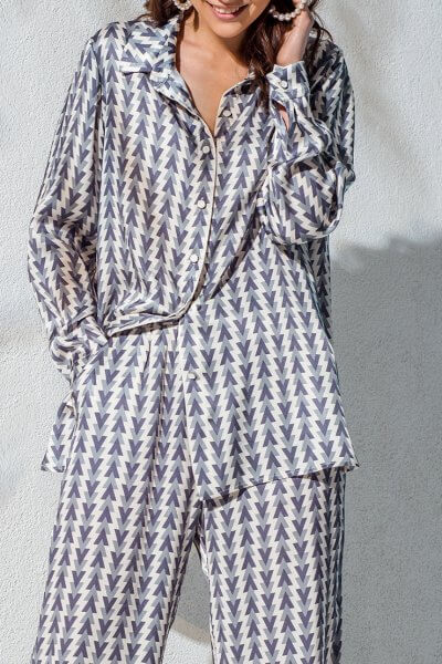 Рубашка свободного кроя KS_AND_KS_SS-22-30, фото 1 - в интеренет магазине KAPSULA