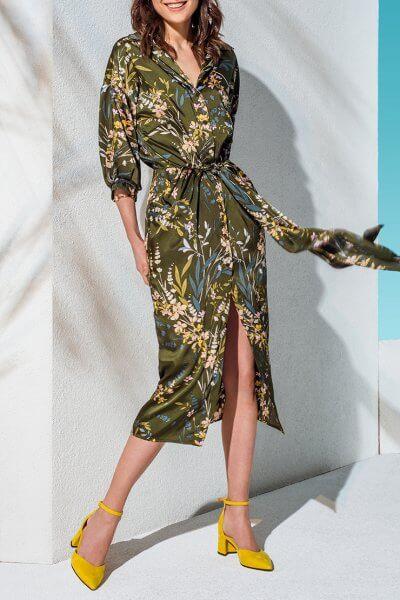 Платье-рубашка с поясом KS_AND_KS_SS-22-31, фото 1 - в интеренет магазине KAPSULA