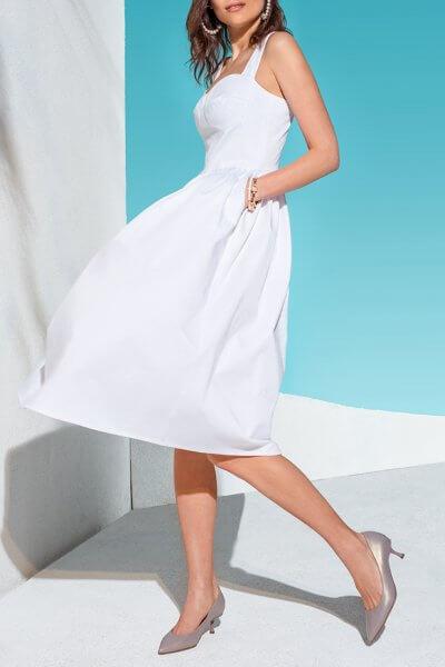 Платье с пышной юбкой и вышивкой KS_AND_KS_SS-22-32, фото 1 - в интеренет магазине KAPSULA