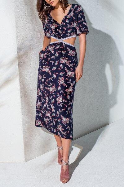 Платье с разрезами по талии KS_AND_KS_SS-22-33, фото 1 - в интеренет магазине KAPSULA