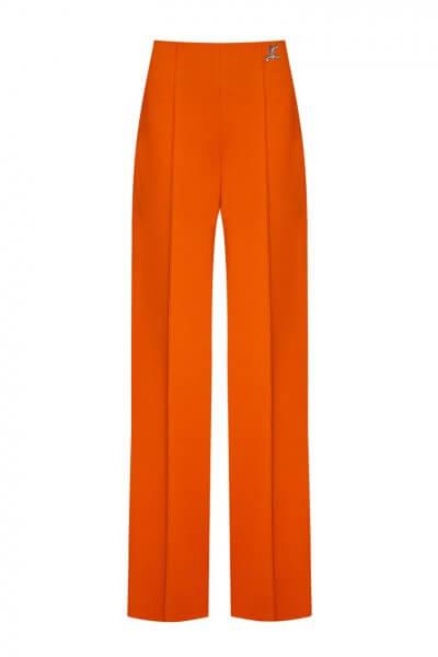 Широкие брюки со стрелками LKC_BRV2001-orange, фото 1 - в интеренет магазине KAPSULA
