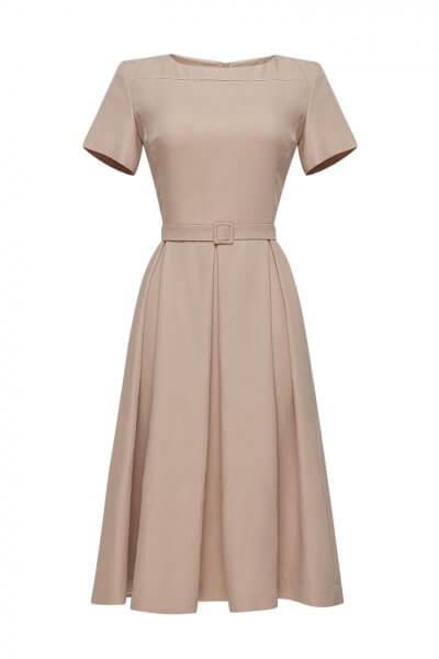 Платье со складами и поясом LKC_SUL1901, фото 1 - в интеренет магазине KAPSULA