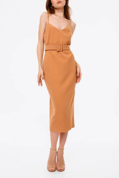 Платье с открытой спиной и поясом MGN_1715KM, фото 1 - в интеренет магазине KAPSULA