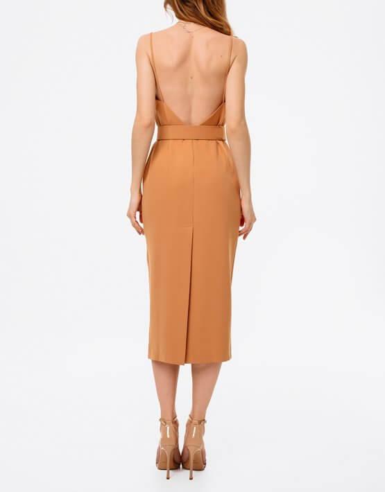 Платье с открытой спиной и поясом MGN_1715KM, фото 5 - в интеренет магазине KAPSULA