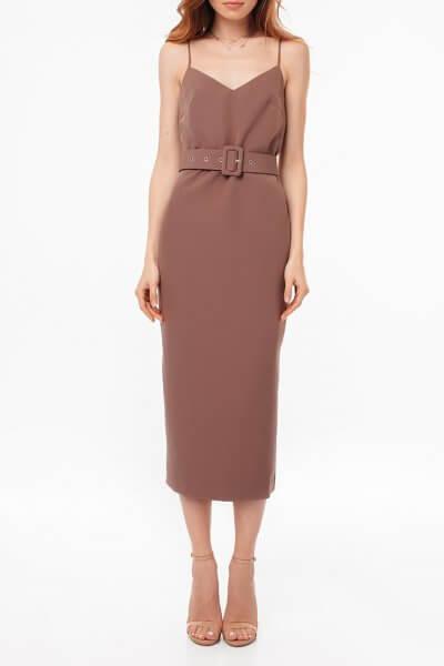 Платье с открытой спиной и поясом MGN_1715KO, фото 1 - в интеренет магазине KAPSULA