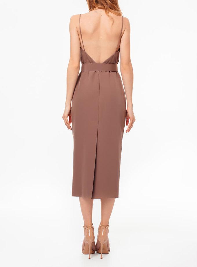 Платье с открытой спиной и поясом MGN_1715KO, фото 1 - в интернет магазине KAPSULA